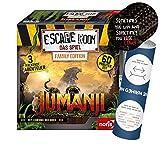 Collectix Escape Room Jumanji (Family Edition), juego de mesa a partir de 10 años + 5 pegatinas de salida + 1 póster de ilusión óptica