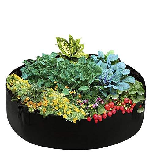 Bolsa de Cultivo de Plantas, Respirable Macetas de Fieltro Envase para Patatas Tomates Zanahoria Flores Verduras Suministro de Aire Suficiente (70x30)
