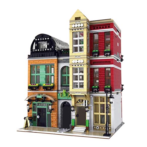 KEAYO Bloques de construcción para casa, 4087 piezas, tamaño grande, zapatero modular con iluminación, bloques de construcción, edificio, modelo compatible con casa Lego