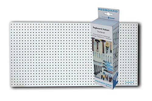 Werkzeugwand-Set - Lochplatte 120 x 60 x 0,5 cm und 67-teiliges Hakenset. Alles um sofort Ordnung zu schaffen.