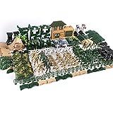 XHXseller 100/130/200/300 pz tavolo da sabbia esercito giocattolo militare gioco di gioco con giocattolo soldati guerra militare statuine set soldatini