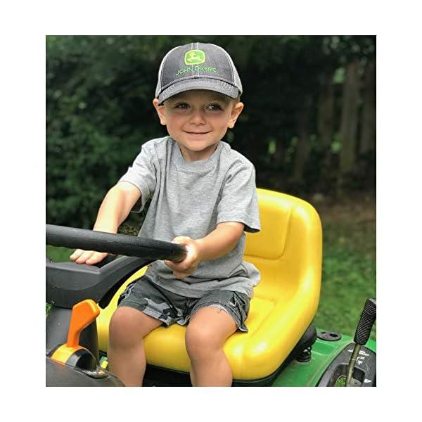 John Deere Toddler/Kids Mesh Back Cap (Charcoal/Grey)