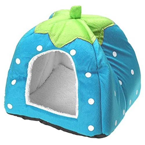 Hosaire Conejo Perro Gato Cama para Mascotas pequeño Animal Grande Snuggle Puppy Suministros Interior Camas Resistentes al Agua Size XXL (Azul)