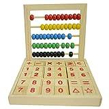 HugeStore - Soroban de Madera para Escritorio de Abacus para niños con Coloridas Cuentas matemáticas Juguetes