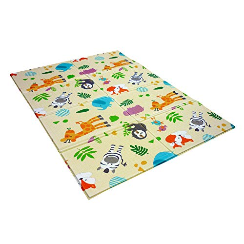 Tappeti Gioco Bambini dimensione 120x90 cm Tappeto per Bambini Pieghevole Tappetino Schiuma Pavimento Antiscivolo