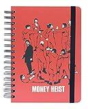 Grupo Erik CTFBA50033- Cuaderno de notas A5, Bullet Journal La Casa de Papel, Producto oficial Netflix, 15,6x21,6 cm, rojo y negro