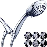 G-Promise High Pressure Shower Head 6 Spray Setting Hand Held Shower Heads with Adjustable...