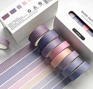 AK.SSI Washi Tape Set de Ruban de Masquage Décoratif Motif Fleurs pour Scrapbooking DIY Art & Craft Ruban Décoratif Coloré