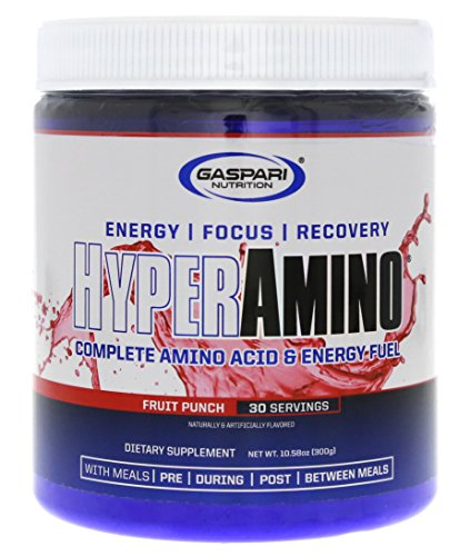 Gaspari Nutrition Hyper Amino (30 ser) Fruit Punch, 300 g