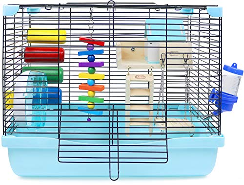 GalaPet Hamster and Guinea Pig Cage Habitat for Small Animal with...