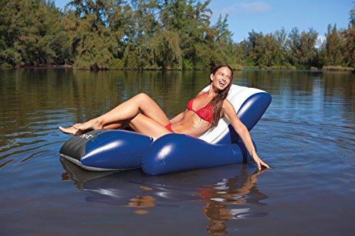 Intex – Una tumbona de piscina hinchable 180 x 135 cm
