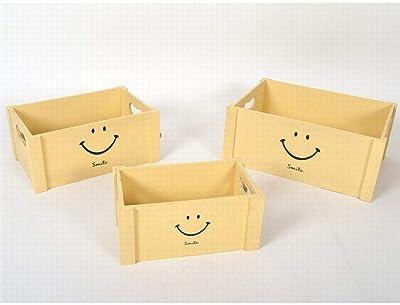 Gerimport Set de 3 Cajas de Madera Smile Medidas de la Caja Grande ...