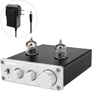 AIYIMA Audio 6J1 Tube Preamplifier HiFi Treble & Bass Adjustment Audio Preamp DC12V Stereo Tube Amplifier Preamp NE5532P Chips for Home Theater System(Tube-A3,Silver)
