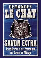 Carnet Blanc: Le Chat, Savon Extra, Affiche, 1895