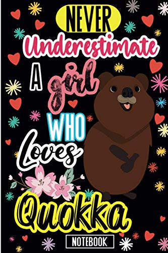 Never Underestimate A Girl Who Loves Quokka: Cute Blank Lined Journal Notebook | Funny Cute Gift Idea For Quokka Lovers | Perfect For Birthdays, ... Gifts | 6 x 9 inches ,120 lined pages