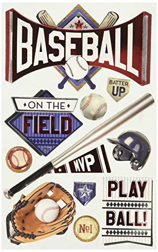 Paper House 3D-Sticker - Baseball Batter Up
