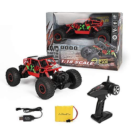 Meteor fire Coche teledirigido RC Cars Stunt Car Toy, 2.4G RC Climbing Car Monster Truck Alta Velocidad Control Remoto Coche Juguetes, para Regalos de cumpleaños Niños Niñas Adultos,2