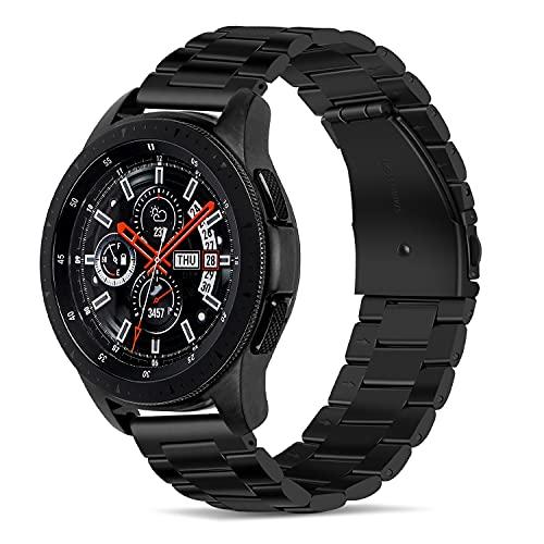 Tasikar Compatible con Correa Huawei Watch GT2 46mm/Garmin Fenix 5, 22mm Correas de Reloj de Acero Inoxidable Pulseras de Repuesto para Samsung Galaxy Watch 46mm/Watch 3 45mm/Gear S3 (Negro)