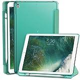 INFILAND iPad Air (3. Generation) 10,5 Zoll 2019 / iPad Pro 10,5 Hülle mit eingebautem Apple Pencil Halter, Superdünne Superleicht Schutzhülle mit Transparenter Rückseite Abdeckung, Minzgrün