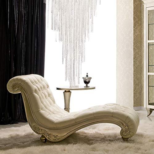 Casa Padrino sillón reclinable Art Deco Beige/Plata 156 x 70 x A. 88 cm - Chaise Longue de Madera Maciza Noble con Tela de Terciopelo - Muebles de Salón Art Deco