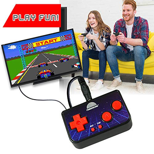 Funderdome Retro Mini Arcade Game Portable Gaming Console for Kids with 200 Classic Video Games and 10ft RCA Cable for TV