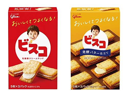 【Amazon.co.jp限定】 江崎グリコ 【セット商品】ビスコ小箱 2種(ビスコ・ビスコ発酵バター)×10個 計20個セット