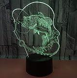 Lámpara 3D Trade Carp, 7 Colores Táctiles, Luz De Noche Led 3D, Regalo Creativo, Lámpara De Escritorio Pequeña, Novedad, Accesorios De Iluminación 3D