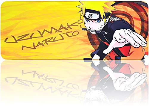 Naruto Mouse Pad Large Extended Gaming Anime Mousepad,Non-Slip Water-Resistant Rubber Base Mouse Mat (31.5'x11.8')