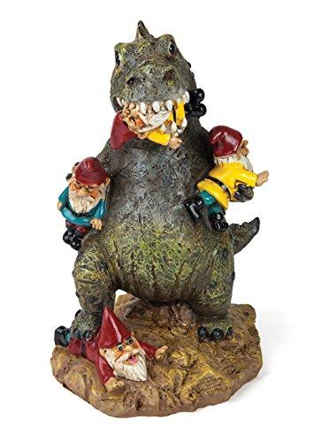 Statue Godzilla mangeur de nains de jardins