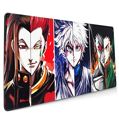 Hunter X Hunter Custom Mouse Pad Anime Mouse Mat Home Office Computer Gaming Mousepad Desk Mat Large 18.11x16.14x0.39inch