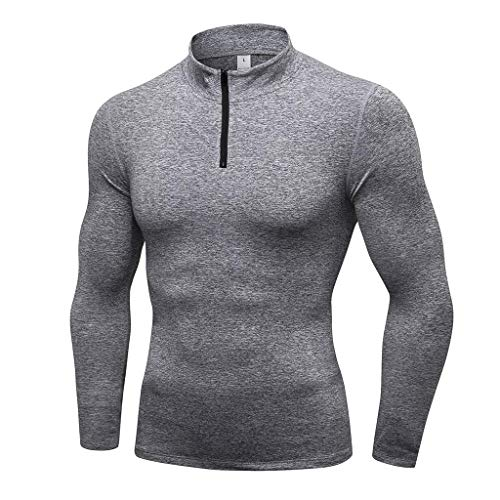 Men's Sports Suit, Fashion Print Skinny Training Sports Running Long Sleeve T-Shirt Quick Drying