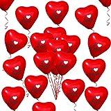50 Piezas Amor Corazón Globos Rojo Corazón Globos para el día de San Valentín Aniversario de Bodas Compromiso Cumpleaños Jardín Graduación Fiesta de graduación Decoración Decoración romántica