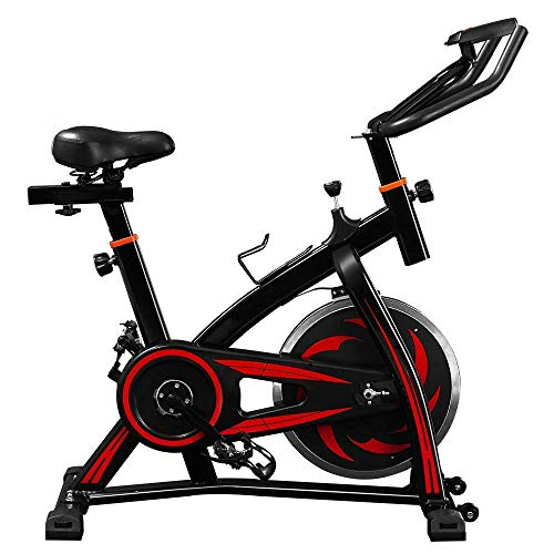 WGFGXQ Bicicleta estática de Ciclismo para Interiores, Bicicleta de Entrenamiento, Fitness, Cardio spin con Consola LCD, Volante de 10 KG, Resistencia de 8 Niveles, máquinas de Ejercicio Studio Cyc