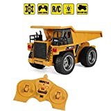 Woote Boy Remote Control Construction Tractor Toys 6 Channel Full Functional RC Dump Truck Toy with Lights Sounds-Trucks Children's Best New Year Christmas Kids RC Vehicle Gift Birthday Present