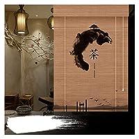 CAIJUN バンブーローマン ブラインド、 サンシェード 光フィルタリング シェード と 15cmバランス 装飾 にとって 庭園 窓、 カスタムサイズ (Color : A, Size : W110cmxH150cm)