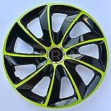 4x Enjoliveurs de roue noir vert 14' STIG de NRM   Enjoliveurs de roue 14 pouces, Jeu de 4 enjoliveurs