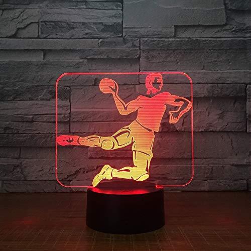 3D Tischlampe 7 Farben Handball Lampe Farbe Kind Kinder Tisch Nachtlicht Lampe Tropfen Boot Kristall Tischlampe Kristall Tischlampe weiße Tischlampe Mini Tischlampe