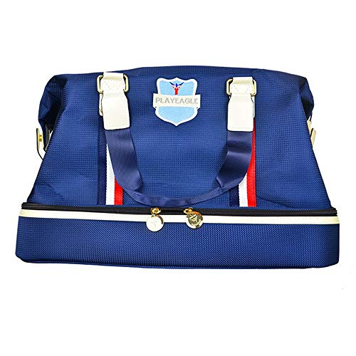 ZzheHou Golf Reisetasche Herren wasserdichte Golfkleidung Tasche Golftasche Outdoor-Reise-Fitness-Tasche Damenmode Fitness-Badetasche Blau (Color : Blue, Size : M)