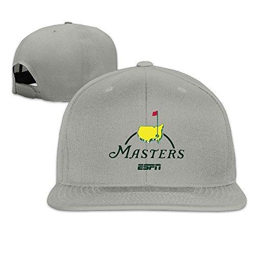 Oops Times Cap Solid Adult Masters Golf Logo Flat Bill Baseball Cap Ash 0535858b206