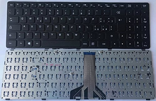 Keyboards4Laptops German Layout Black Frame Black Windows 8 Laptop Keyboard Compatible with Lenovo IdeaPad 100-15IBD