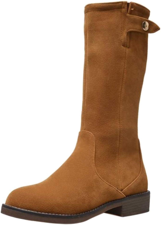 Melady Women Casual Knee Boots Zipper