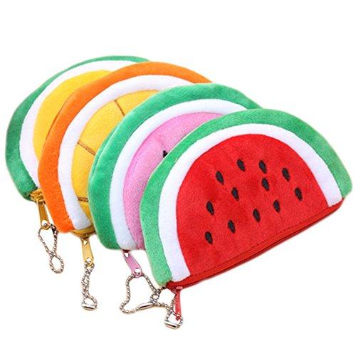 BIGBOBA 4 pcs Mini Monederos para Mujer Forma de Fruta Lindo pequeños Bolsas de Efectivo almacenar Llaves, Moneda,Barra de Labios