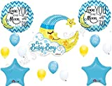 moon and stars baby shower balloons
