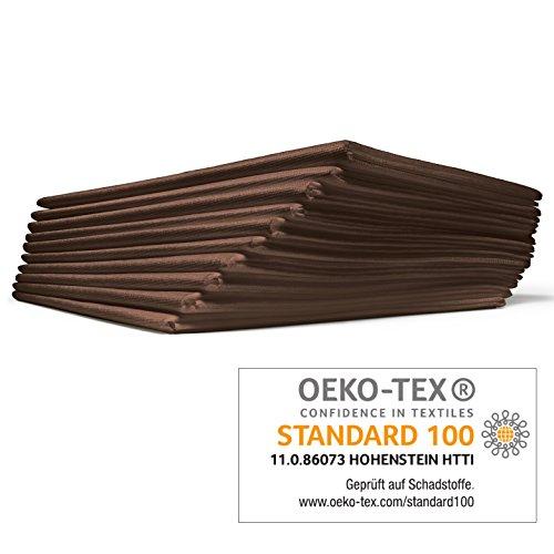 VLIESLAKEN activ® 5 Stück 120x210 cm braun Auflage für die Massageliege OEKO-TEX® ORIGINAL Dr. Güstel Waschfaserlaken