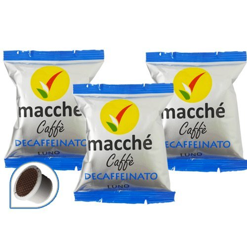 100 Cialde Capsule Compatibili Illy Kimbo Uno System Macche' Caffe' Decaffeinato