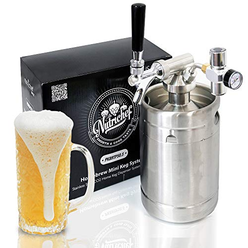 NutriChef PKBRTP50.5 Premium Keg Dispenser, One Size, Stainless Steel