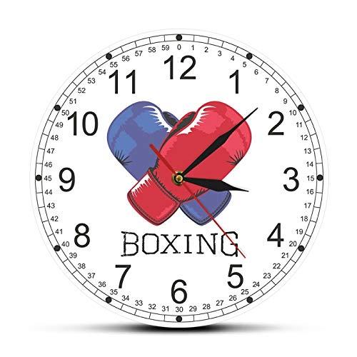 xinxin Reloj de Pared Guantes de Boxeo Azules y Rojos Impres