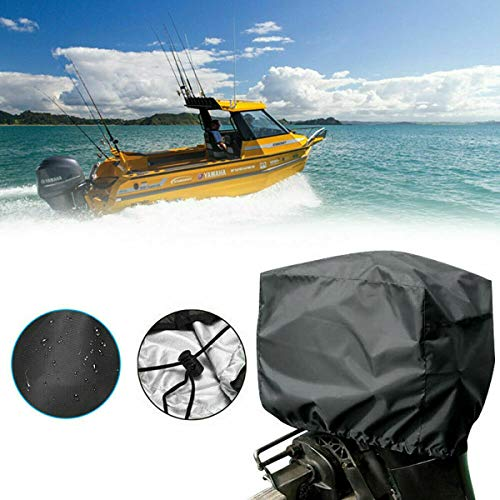HugeAuto cubierta de motor fuera de borda para motor de barco, cubierta protectora para motor de yate, impermeable y bronceador para barco, barco, yate, barco, barco, barco, barco, barco y marino.