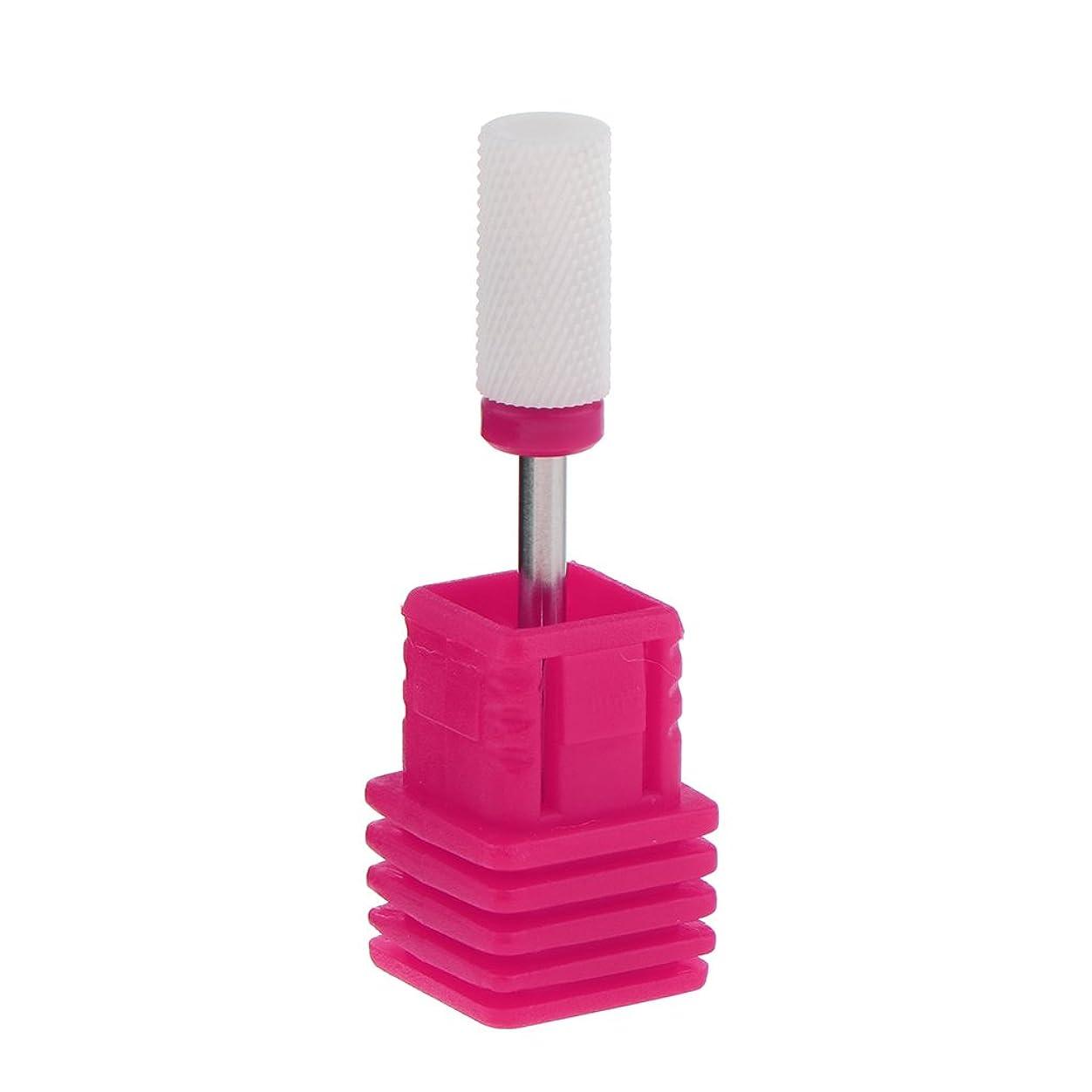 支払う苦覆すDYNWAVE ネイルアート ドリルビット 研磨ヘッド 電気ドリルビット セラミック ネイル 全6色 - ピンク