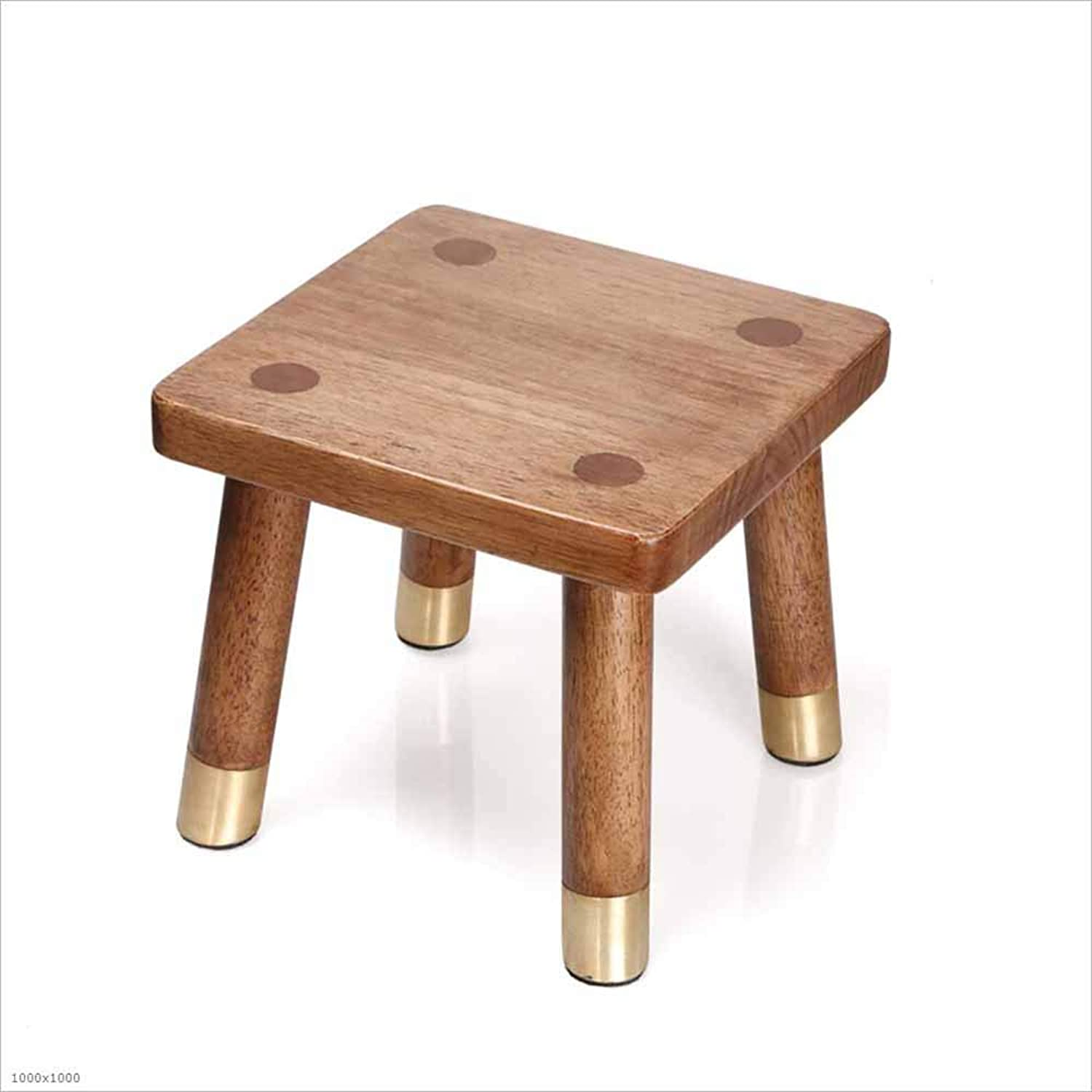 Solid Wood Stool Retro shoes Bench Rubber Wood Living Room Hall Bathroom Footstool